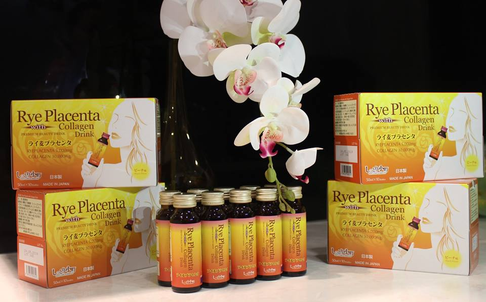 Collagen Nhật Bản Collagen Rye Placenta with drink